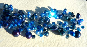 Bright bluesnecklace