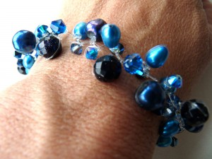 Bright blues bracelet